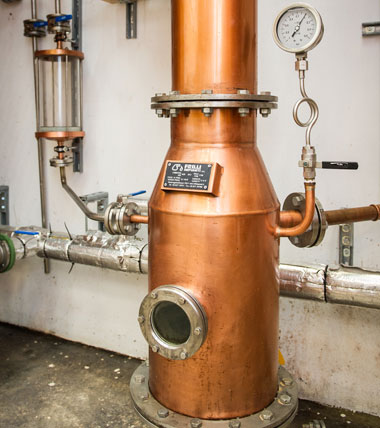 Our copper still - bespoke from Italy